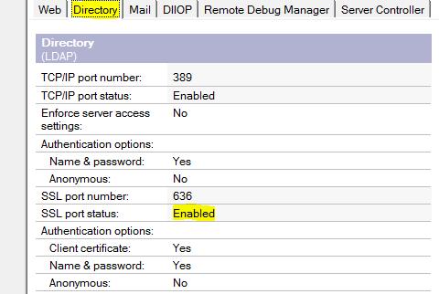 LDAP Configuration · Domino AppDev Pack